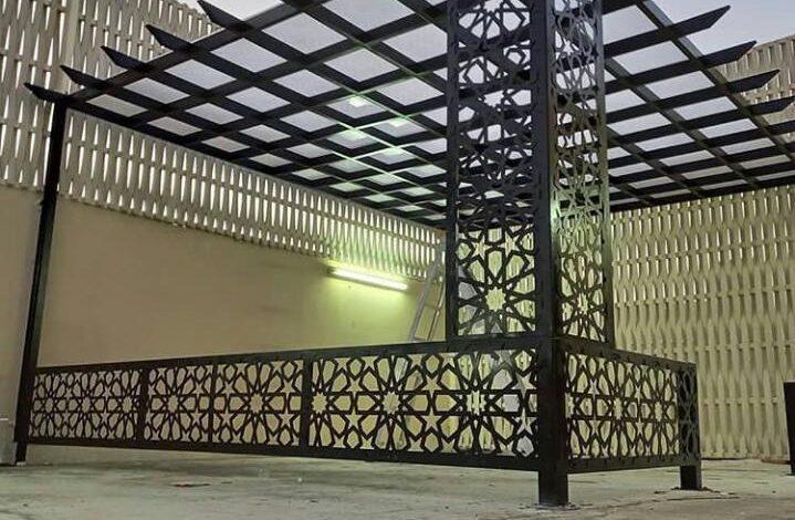 تركيب مظلات للمنزل في الرياض مظلات خارجية للمنازل واحواش البيوت افضل تصاميم واشكال مظلات حديديه للحدائق والاستراحات من مؤسسة الصالح