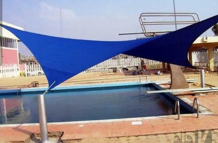 مظلات رخيصة للمسابح في الرياض   شراع تغطية المسابح